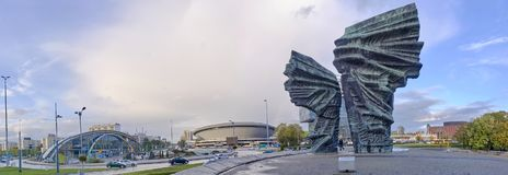 KATOWICE, POLAND - OCTOBER 6, 2017: Silesian Insurgents Monument Stock Photo