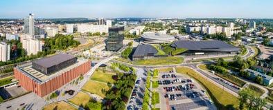Katowice, Poland Panorama do centro da cidade Imagens de Stock Royalty Free