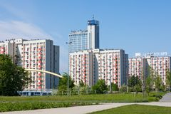 KATOWICE, POLEN - 5. MAI 2018: Altus-Turm in Katowice, Polen Stockbilder