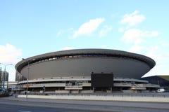 Katowice Polen, Spodek, Soucer Royaltyfri Bild