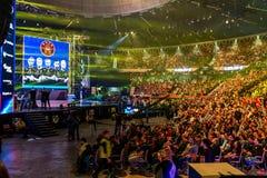 KATOWICE, POLOGNE - 3 MARS 2019 : Maîtres extrêmes 2019 d'Intel - coupe du monde électronique de sports le 3 mars 2019 dans Katow photo stock