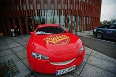 Katowice, Polonia - 24 ottobre 2014: Fulmine McQueen un più grande Fotografia Stock Libera da Diritti