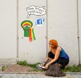 Katowice Street Art Festival Royalty Free Stock Photography