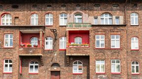 Katowicka, dziejowa architektura minors gromadzcy/ obraz royalty free