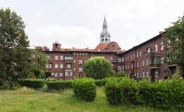 Katowicka, dziejowa architektura minors gromadzcy/ fotografia stock