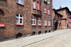 Katowicka, dziejowa architektura minors gromadzcy/ obrazy stock