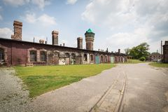 Katowicka, dziejowa architektura minors gromadzcy/ zdjęcia royalty free