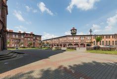 Katowicki, Dziejowy mineshaft okręg 2017/i tradycyjna architektura zdjęcia royalty free
