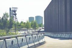 KATOWICKI, POLSKA, MAJ - 05, 2018: Nowożytni budynki Silesia Obraz Royalty Free