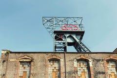 Katowicki w Silesia, Przemysłowym krajobrazie/stary mineshaft zdjęcia stock