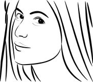 Katrina Kaif Face Outline Photo libre de droits