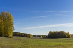 Katrineholm Sweden. Beautiful nature and landscape photo of colorful autumn day. Nice outdoors image. Calm, peaceful, joyful and happy picture Stock Images