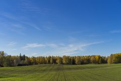 Katrineholm Sweden. Beautiful nature and landscape photo of colorful autumn day. Nice outdoors image. Calm, peaceful, joyful and happy picture Stock Image