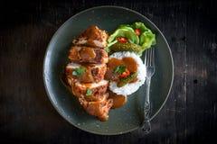 Kats del pollo serviti fotografia stock libera da diritti