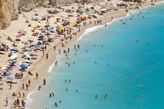 katsiki lefkada porto Греции пляжа Стоковое Фото