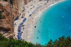 katsiki lefkada porto пляжа Стоковое фото RF
