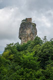 Katskhi pillar. Georgian landmarks. Man& x27;s monastery near the vil royalty free stock photos