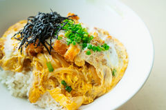 Katsu don boiled japan food is deep fired pork Royalty Free Stock Image