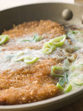 Katsu-Don cooking in A Japanese Frying Pan Stock Photography
