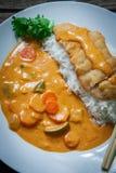 Katsu Kare Curry Dish Royalty Free Stock Photography