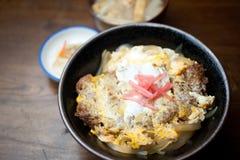 katsudon японца кухни Стоковая Фотография