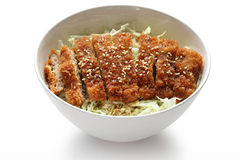 Katsudon ( pork cutlet bowl ), japanese food Royalty Free Stock Photos