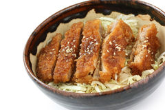 Katsudon ( pork cutlet bowl ), japanese food Stock Image