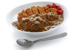 Katsukare, japanese curry rice Royalty Free Stock Images