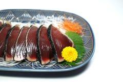Katsuo-Sashimiplatte Lizenzfreie Stockfotos