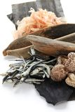 Japanese umami taste, ingredients of dashi(japanese soup stock) Stock Photo
