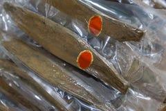 katsuobushi - uwędzony skipjack tuńczyk w foki pastic torbie Zdjęcia Royalty Free