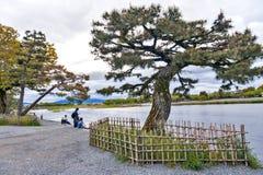 Katsura River in Arashiyama District, Kyoto, Japan. Kyoto, Japan - March 2016: Katsura River in Arashiyama District, Kyoto, Japan Stock Photo