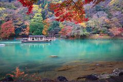 The katsura river. In the autumn, Kyoto Japan Stock Photography