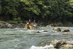 Katsura River boat ride Japan Stock Images
