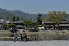Katsura River-kant Royalty-vrije Stock Afbeeldingen