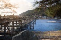 Katsura River y puente de Togetsukyo Imagen de archivo