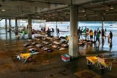 Katsuura Nigiwai市场在和歌山,日本 免版税库存图片