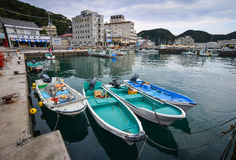 Katsuurahaven en visserijdorp in Japan Royalty-vrije Stock Fotografie