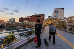 Katsuyamabrug in Kitakyushu Stock Foto's