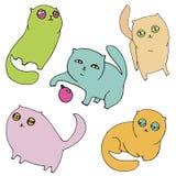 1 katt royaltyfri illustrationer