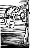 katt cheshire royaltyfri illustrationer