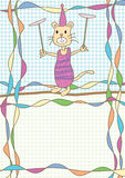 Katt Circus_eps Arkivfoto