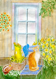 Katt i trädgården Royaltyfri Bild