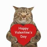 Katt- och för hjärta 2 konst arkivbild