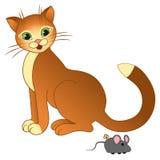 Katt och mus Royaltyfria Foton