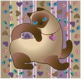 Kattbakgrund, prydnad Royaltyfria Bilder