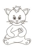 katten contours korven Royaltyfria Bilder