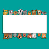 Katten en honden - Malplaatje van achtergrond voor tekst vector illustratie