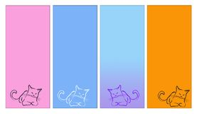 katten etiketten   Stock Afbeelding
