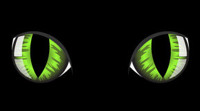 katten eyes s stock illustrationer